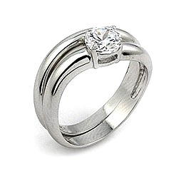 curved line cz wedding band set sale ringsize 8 wedding ring