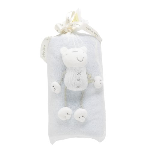 Lollipop Lane Blanket Teddy (Periwinkle Blue)