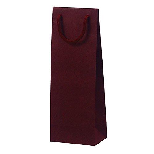 ベルベ 手提げ紙袋 T-W カラークラフト ワイン 10枚入 1020