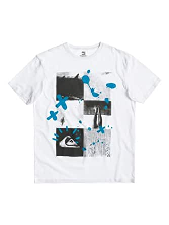 Quiksilver Basic T-Shirt manches courtes homme Blanc FR : XXL (Taille Fabricant : XXL)