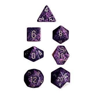 Polyhedral 7-Die Chessex Dice Set - Speckled Hurricane - 1