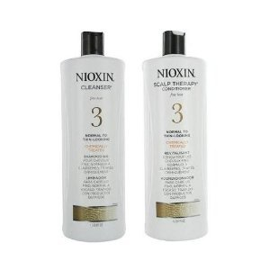 New!! Nioxin System 3 Cleanser & Scalp Therapy Liter Set (33.8 Oz Each)