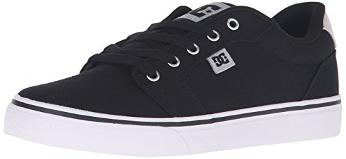DC Men's Anvil TX Skateboarding Shoe, Black/Grey, 9 M US