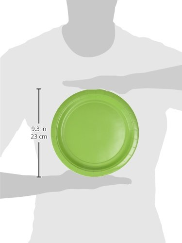 Amscan AMI 650013.53 Amscan Kiwi Big Party Pack Dinner Plates (50 Count), 1, green