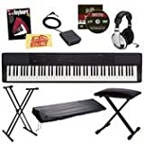 Casio Privia PX-150 Digital Piano Bundle - Black