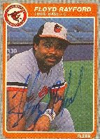 Floyd Rayford Baltimore Orioles 1985 Fleer Autographed Hand Signed Trading Card. by Hall of Fame Memorabilia