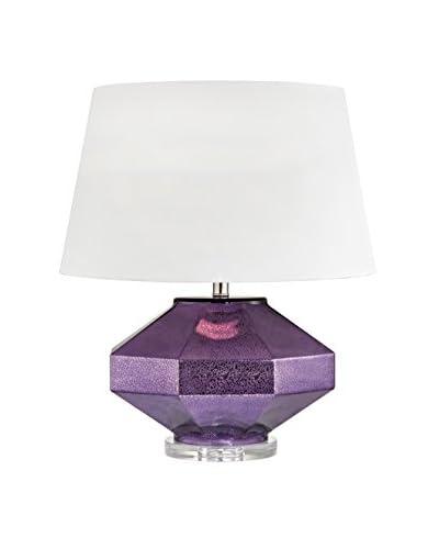 Artistic Lighting 1-Light Table Lamp, Mercury Amethyst