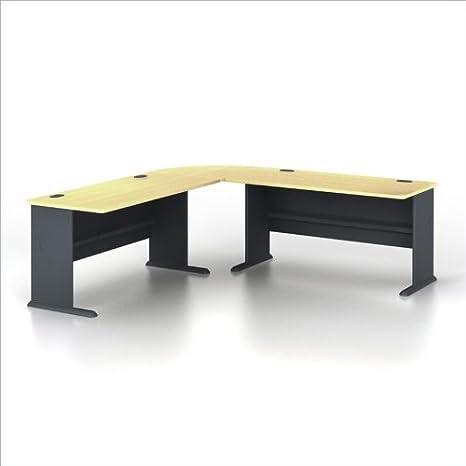 Bush Series A 3-Piece L-Shape Computer Desk in Beech