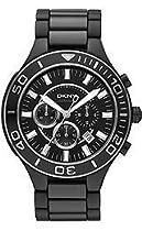 DKNY Black Chronograph Dial Ceramic Mens Watch NY1490