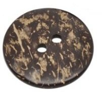 Pack of 5 Large Brown 2 Holes Coconut Shell Sewing Buttons 38mm, Scrapbooking, Embelishments, Crafts, Jewellery making, Knitting, delicate natural shell, Approx: 38mm dia, Hole size: 3.9mm Thickness: 5.1mm by The Bead and Button Company