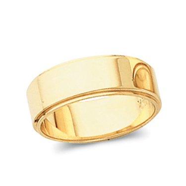 14K Yellow Gold, Flat Edged Wedding Band 10MM (sz 5.5)