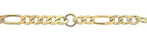 Damen Schmuck Gold Fußkettchen Figaro / Figarokette aus 333 Gelb Gold ( 25 cm ) ( 3 mm ) online bestellen