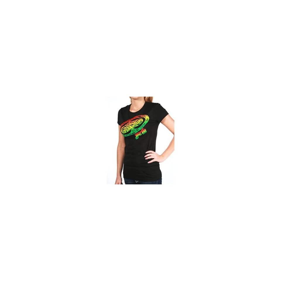 SRH Womens Rasta Big Spade Scoop T Shirt   Large/Black