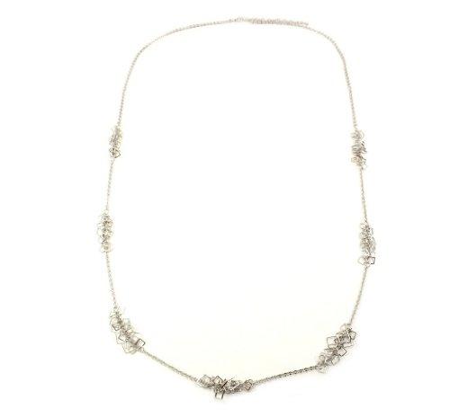 Poshlocket - Jojo Box Station Long Necklace in Silver