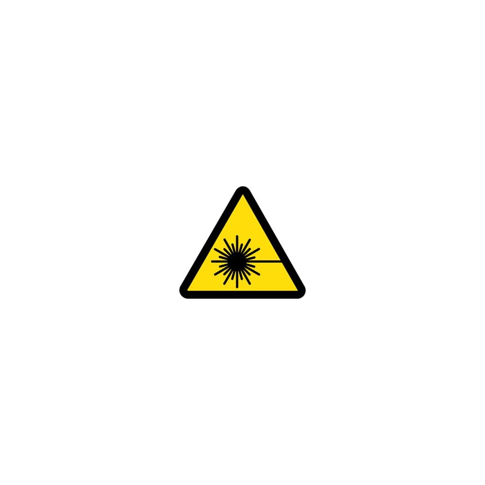 Label, Graphic For Laser Hazard, 4 Diameter, Pressure Sensitive V