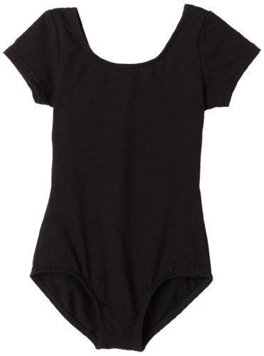 Capezio Girls 2-6x Children'S Short Sleeve Leotard,Black,S (4-6)