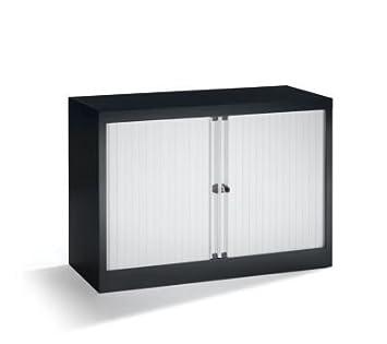 Bisley ET410/06/1S.LG 69 cm Euro Tambour Top Box Light Grey Shutter - Black
