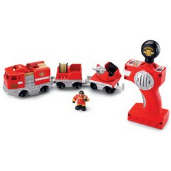GeoTrax Rail & Road System Remote Control Set: Smokey & Jose (Color: 1252, Tamaño: M-2175)