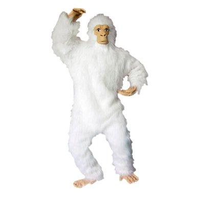 White Gorilla Adult Size Mens Halloween Monkey Costume