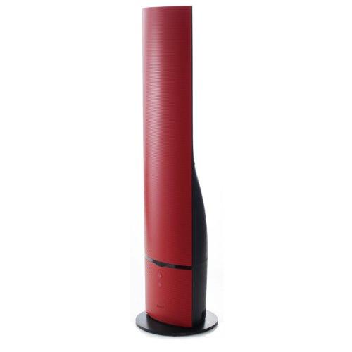 mood タワー型ハイブリッド式加湿器 レッド MOD-KH1204(RD)