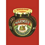 Marmite Jar cotton tea towel (hb red)