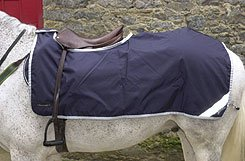 Rambo by Horseware Competition Sheet - Color:Navy/Silver Size:Small