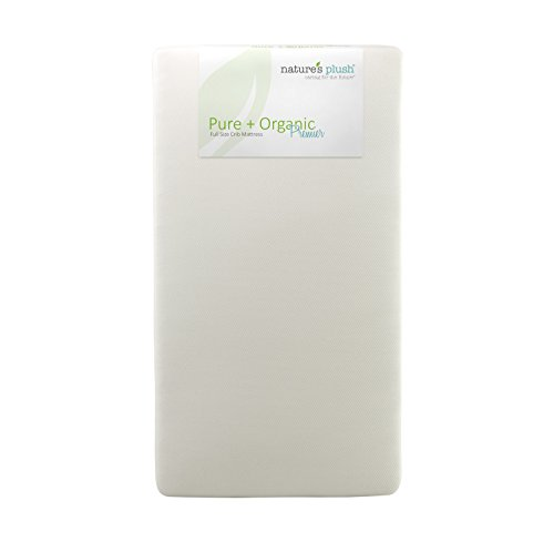 Nature's Plush Pure and Organic Premier Full Size Baby Crib Mattress - 1