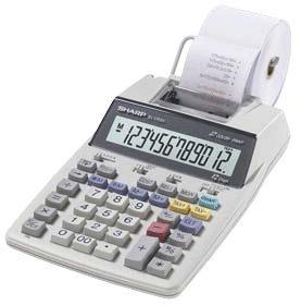 Sharp EL-1750V Portable Printing Calculator with Clock and Calender