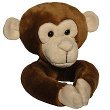 Curtain Critters ALCHMY150909SET Plush Safari Chocolate Monkey Curtain Tieback Set- 2