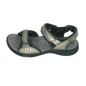 Clarks Women's Wave.Whisk Sandal,Pewter Leather,9.5 M US