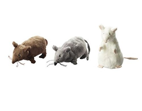 RoomClip商品情報 - Set of 3 - Ikea Gosig Mus Rat Mouse Stuffed Animal Soft Toy, White, Brown, Grey, 5 1/2