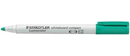 STAEDTLER Lot de 10 Marqueur tableaux blancs Lumocolor compact 341 Pte ogive Vert