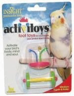 Cheap JW Pet Company Insight Foot Toy Flower And Roller Medium Bird Toy Assorted Colors (B0006JM2AQ)
