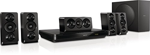 Philips HTB3510 5.1 1000W 3D DVD BluRay Blu Ray Player Home Theatre Cinema HI Fi Speaker System with USB and Easylink / BD Live