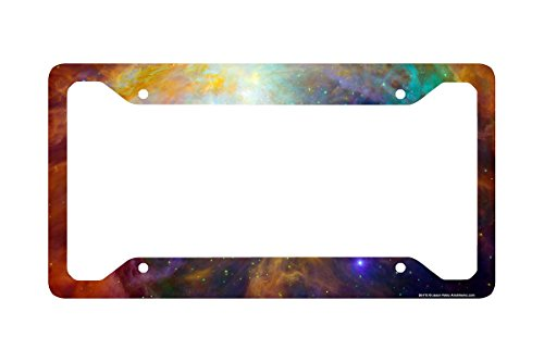 Airstrike Space Galaxy License Plate Frame, Stars Car Tag Frame, Universe License Plate Holder, Outer Space Nebula Cute License Plate Frame-30-712 (License Plate Frame Space compare prices)
