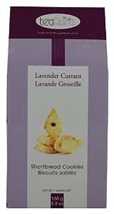 Tea Aura Gourmet Shortbread Cookies, Lavender Currant, 5.3-Ounce Boxes (Pack of 4)