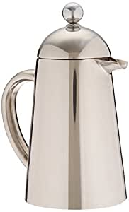 Francois et Mimi Double Wall French Coffee Press, 12-Ounce, Stainless Steel