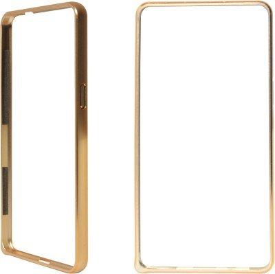 MACC Metal Dual Gold Line Bumper Case for Micromax Yu Yureka AO5510 / AQ5510 / YU Yureka Plus YU5510 - Gold