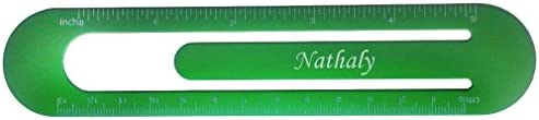 Bookmark  ruler with engraved name Nathaly first namesurnamenickname