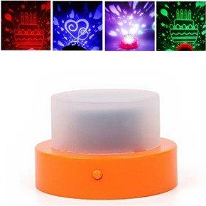 Novelty Cake Shaped Color-Changing Projection Electronic Candle Led Lamp Light (Pattern Optional)