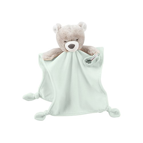 Carter's Baby Plush Cuddle Bear Rattle Security Blanket Paci Holder - 1