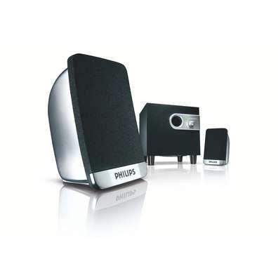 Philips SPA1300/00 PC-Lautsprecher 2.1 silber/schwarz
