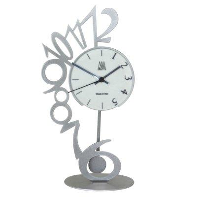 Arti  &  Mestieri Silver Perche Clock (H35cm x W18cm)