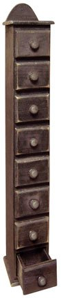 Black Tall Drawer Spice Cabinet Count…