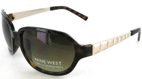Women's Nine West Tortoise Gold UV Sunglasses