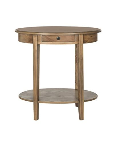 Safavieh Monica Oval End Table, Oak