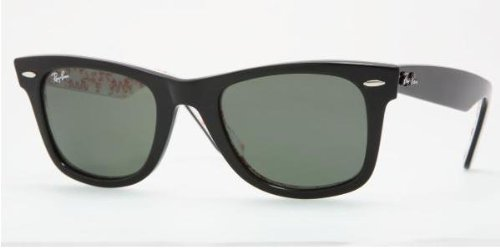 ray ban wayfarer black lens. Ray Ban Unisex Rb2140 (Small)