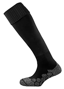 Mitre Division Plain Unisex Adult Football Sock - Black, Senior 7-12