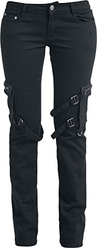 Black Premium by EMP Strap Pocket (Straight Fit) Pantaloni donna nero W31L34