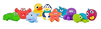 Nuby 10-Pack Little Squirts Fun Bath Toys, Assorted Characters from Nuby